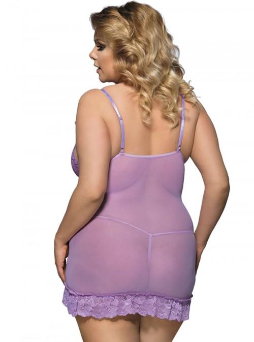 Nuisette violette coupe moulante près du corps | Aria