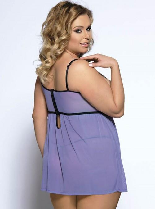 Nuisette violette lavande coupe large bonnets moulés | Iris