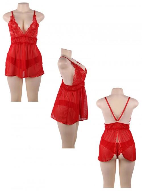 Babydolle rouge et transparente | Arianna