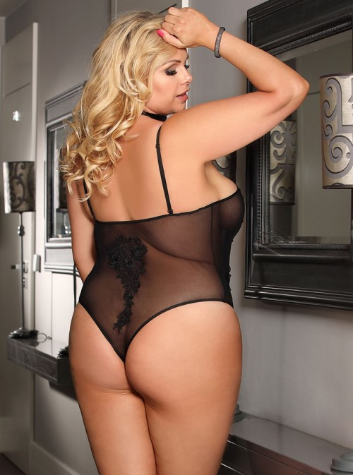 Lingerie body femme noir transparent | Faith