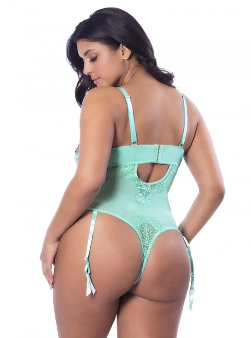 Body turquoise à jarretelles | Lali