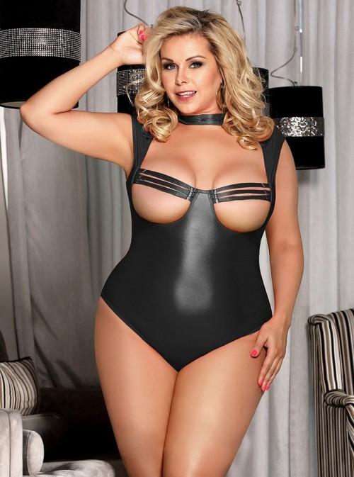 Body en cuir noir bondage/fetish | Mistress