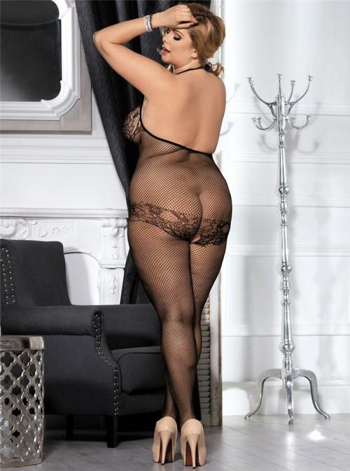 Combinaison sexy en résille fine | Eléna
