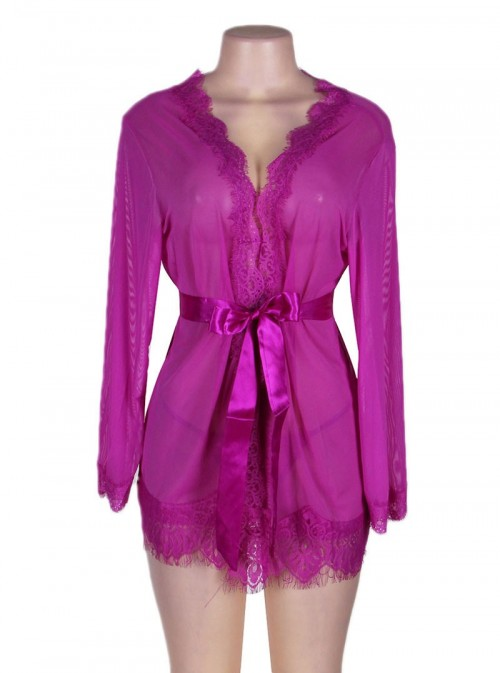 Lingerie peignoir violet   Passion